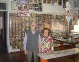 o casal Del Corto em seu museu residencial